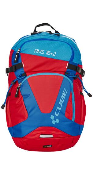 Cube AMS 16+2 Rucksack blue'n'red
